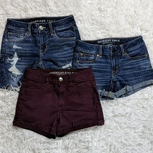 American Eagle Lot of 3 Shorts Size 0